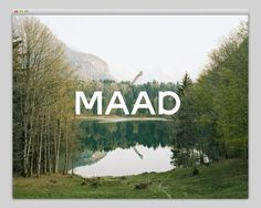 MAAD (amazing typography) #website #layout #design #web