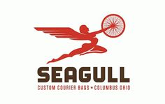 FFFFOUND! | Jeremy Slagle Designer - Logo Gallery - seagull.gif #bag #woman #pegasus #slagle #courier #seagull #flying #wheel #custom #logo #lady