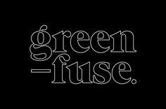Green fuse logo #type #logo #identity #typography