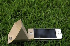 The eco-amp iPhone Speaker Made from Recycled Paper - Solar Feeds News #iphone #recycled #amp #eco