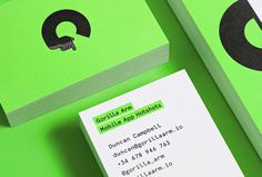 Gorilla Arm by Forma & Co #print #illustrations #green #business card
