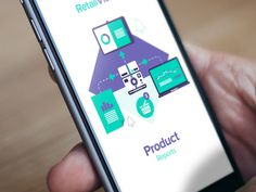 RetailVision // App #green #flat #ux #icon #responsive #color #ui #app #mobile #purple #mac