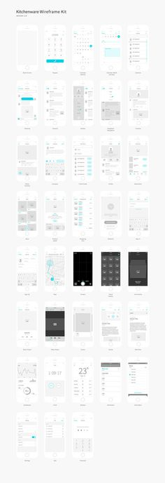 Wireframe kit full preview #wireframe #ui