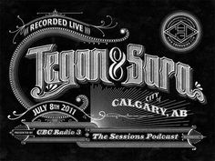 CBC Radio 3 Podcast Lettering on Behance #type #retro #vintage #typography