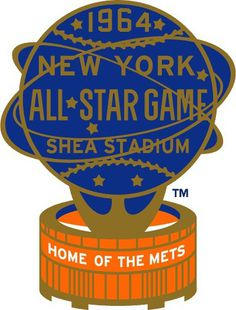 1964 MLB All-Star Game Logo #baseball #logo #smets #vintage