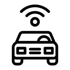 See more icon inspiration related to car, wifi, satellite, vehicle, road icons, connected, cars, frontal view, transportation, communications, signal, connection and transport on Flaticon.