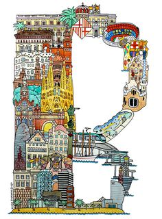 ABC illustration series of European cities #drawings #letters #city #design #abc #illustration #europe #typography