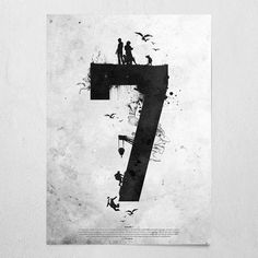 #rakami7 #offwhite #poster #wallart #paulauster #7