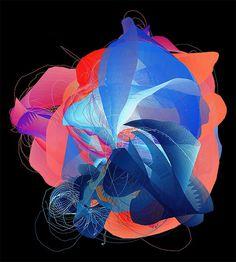 Unfold on Behance #generative #art