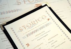 Art of the Menu: Caffè Storico #branding #print #design #graphic #menu