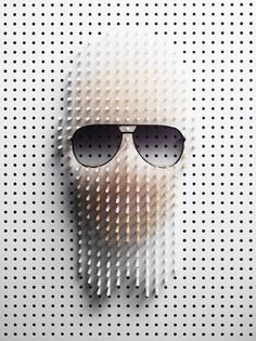 Pin Art / Plaza #karl #pinboard #sunglasses #art #lagerfeld