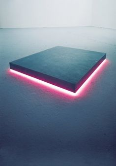 Standing Elements #installation #pink #cool #cube #block #glow #spacial