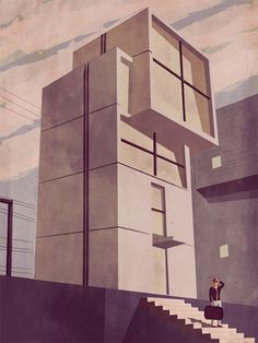 1 Via Cuneo in Milan #illustration #architecture