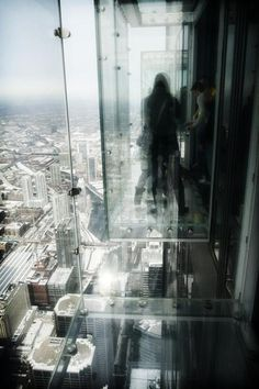 CJWHO ™ (View from the Skydeck of Willis Tower by Tabitha...) #willis #design #landscape #glass #photography #architecture #tower