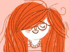 Dribbble #cute #illustration #redhead #girl