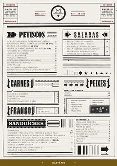 fun typography in restaurant menu