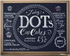 we love typography. a place to bookmark and savour quality type-related images and quotes #cupcakes #chalk #typography