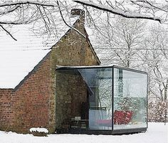Shelter Me Been Seen #addition #glass #architecture #houses #facades