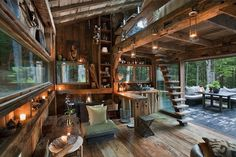 CJWHO ™ (Unplugged by Scott Newkirk A one room cabin in...) #design #interiors #yulan #wood #architecture #york #scott #newkirk #new