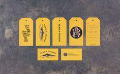 tags, yellow, design, monogram, illustration