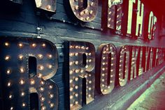 North of Brooklyn Pizzeria #signage #bulb #sign