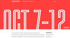 Design Week Portland #background #unique #conference #web #typography