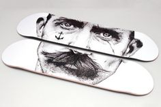 boards and stuff #jones #rene #board #illustration #jack #portrait #grincourt