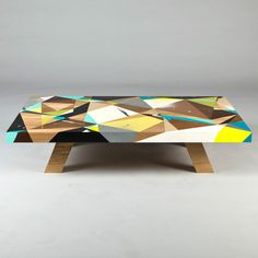 Graffiti Inspired Coffee Tables by Vans the Omega #furniture #polygons