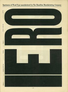 Wood Type Catalog