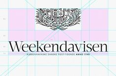 Weekendavisen — iPad app on the Behance Network #logo #grid #process