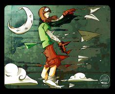 jet_plane by Ademar Garcia | Flickr #design #sketchbook #illustration #painting #moleskine #art