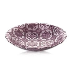 Bowl Safi Glass Purple 34cm