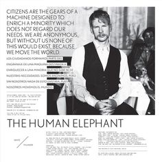 hite Thunder by The Human Elephant #layout #design