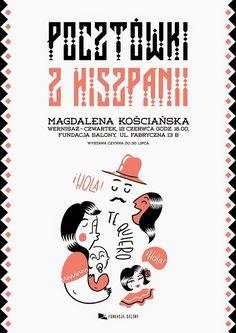 Zaczarowana Walizka: Pocztówki z Hiszpanii - wystawa / Postcards from Spain - exhibition #spain #hola #exhibition #illustration #poster #hello #postcards