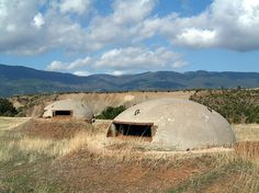 File:Albania bunkers.jpg - Wikipedia, the free encyclopedia #clouds #nature #hills #albania