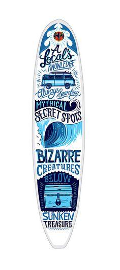 type lover:https://www.behance.net/gallery/Bacardi Surfboard/13054797 #poulter #illustration #typography