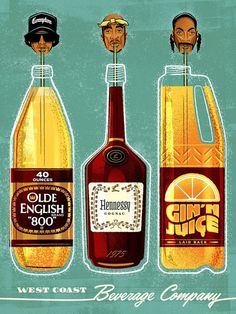 Hip Hop art print #hip #hop #poster #illustration #vector #west #coast #easy #2pac #snoop