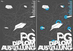 PG Diplom Plakat - maziarrastegar #design #graphic #poster