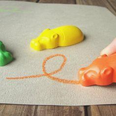 Hippo-Shaped Kaba Crayons #pen