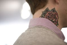 EIKNARF #rose #tattoo #male #floral