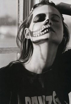 Behati Prinsloo by Matt Jones for i-D Summer 2011 - Touchpuppet #skull #make #up #girl