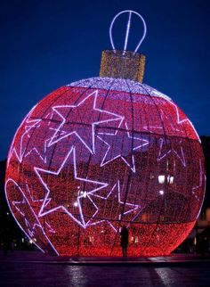 12 Christmas art toy ball in Lisbon Portugal
