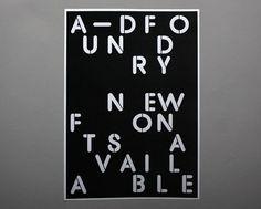FFFFOUND!   F A M I L Y #stencil #type #black #poster