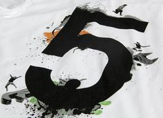KAFT Design - RAKAMÄ°5Â Tshirt #five #number #typography
