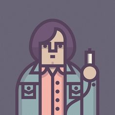 Coen Cast — Anton Chigurh #inspiration #coen #illustration #character #cast