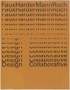 Rolf Harder and Design Collaborative Montreal Ltd. FauxHarderMannRoch