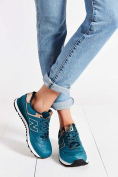 fashion #blue #sneakers #jeans
