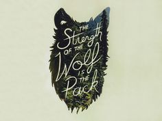 Strength of the Wolf #lettering #typography