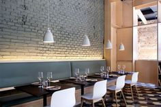 Chic Barcelona Restaurant by Adam Bresnick architects nordic influence furnishing restaurant 1