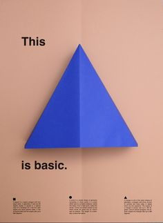 thisisbasic_posters_triangle #fold #color #minimal #poster #paper